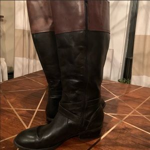 Ralph Lauren two-toned leather riding boots